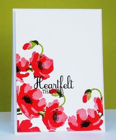 Brushed Poppies & Elegant Butterflies