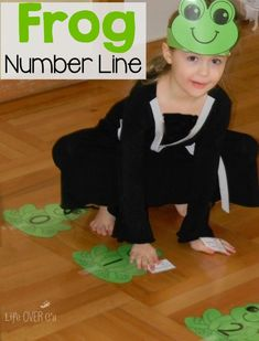 The frog number line printable activity is a fun way for kids to learn numbers, addition and subtraction in a kinesthetic way! Preschool Classroom, Kindergarten Math, Teaching Math, Preschool Songs, Preschool Themes, Classroom Ideas, Line Math, Frog Activities, Life Cycle Craft