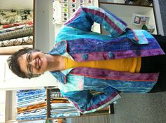 Beautiful. Confetti Jacket.  Creative stitches, unique colors .  Fun to make .  Many different techniques used on a Bernina Sewing machine.