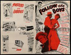 FOLLOW THE BOYS (1944 pressbook) W.C. Fields, George Raft, Orson Welles, Marlene Dietrich