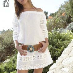 Lisa vestido corto blanco