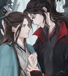 Luo Binghe x Shen Qingqiu Fanart, Shall We Date, The Grandmaster, The Villain, Fujoshi, Cute Illustration, Chinese Art, Asian Art, Anime Couples