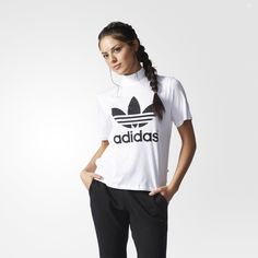 adidas Berlin Trefoil Logo High-Neck T-Shirt - weiß   adidas Deutschland  Adidas 6ea91808fc