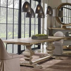 Uttermost - Baldrick, Extension Dining Table under $900. Correct size