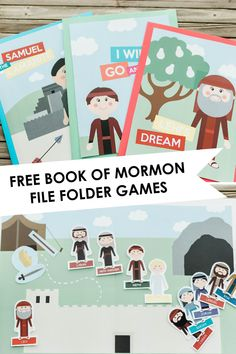 Nichelle Lora Designs: FREE Book of Mormon File Folder Games, You are in the right place about Food Book cover Here we offer you the most beautiful pictures about th Folder Games For Toddlers, File Folder Activities, File Folder Games, Church Activities, Book Activities, Toddler Activities, Primary Games, Primary Lessons, Book Of Mormon Stories
