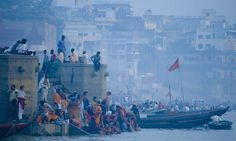 Varanasi, India Jennifer Cox watches dawn over the Ganges on the night train to Delhi