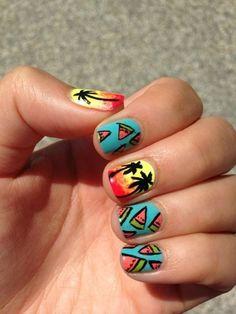 Hawaii nail style #nail #idea