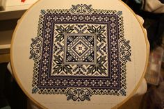 Norwegian Traditional Folk Embroidery Selbu Pillow in cross stitch pdf pattern Folk Embroidery, Cross Stitch Embroidery, Star Patterns, Cool Patterns, Latest Result, Stitch Design, One Color, Mittens, Sewing Ideas