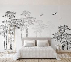 Hi Everyone! Materials: Vinyl- Permanent wallpaper application,peel&Stick ,removable ,self-adhesive. water proof and washable,easy clean with clear water. Woven Paper(Traditional Wallpaper) - Permanent wallpaper application, requires a wallpaper glue for installation, same as most
