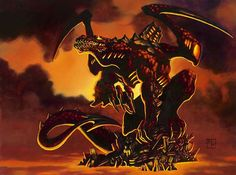 A Chinese Fire Dragon - Black Dragon - Odd though, as this Dragon looks more Western (than Eastern).