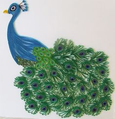 Week Forty-One: Quilled Peacock