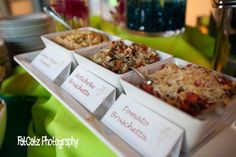 Add an apetizer station to your catering package at Casa Feliz  http://casafeliz.us/  http://arthurscatering.com/