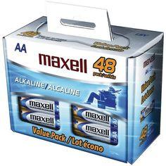 Maxell - Alkaline Batteries (AA; 48 pack; Box)