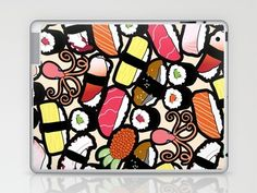 Sushi art, on the wall, as a skin for your laptop or iPad, tres cool!!!