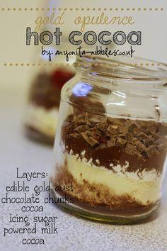 Gold Opulence Hot Cocoa Jam Jar Treat by Anyonita Nibbles