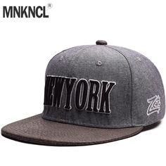 029df33d508 MNKNCL High Quality Baseball Cap New York Embroidery Brand Flat Brim  Snapback Cap Fashion Hip Hop