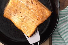 The best way to cook salmon? In a piping hot skillet! Cast iron salmon turns out tender with that perfectly crispy skin we all love. Find out how to make it.