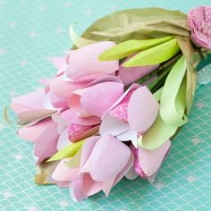 Brighten someone's day with a some crafty paper tulips that hide a chocolate center!
