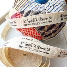 f49e4d53fe569 Custom printed fabric labels. 100% cotton twill ribbon