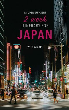 Japan travel tips for your two week trip! These Japan destinations are seriously amazing. Includes a map!