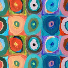 Circles Stretched Canvas