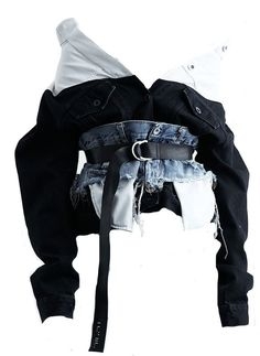 Ok first of all, that jean waist belt/corset is everything. Second, it would be . - Ok first of all, that jean waist belt/corset is everything. Second, it would be super easy to recre - Kpop Fashion Outfits, Stage Outfits, Edgy Outfits, Denim Fashion, Look Fashion, Korean Fashion, Girl Fashion, Cute Outfits, Womens Fashion