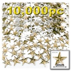 10000-pc Acrylic foil Flatback Star shape Rhinestones 3mm Champagne