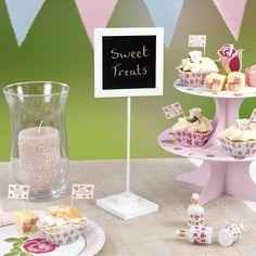 Beschreibbare Tischtafeln für die Hochzeitsdeko oder als Dekoration für die Candy Bar.