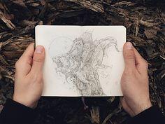 Ivan Belikov skizziert zerstörerische Fabelwesen  Wahrscheinlich hat der russische Künstler Ivan Belikov stets ein Notizbuch bei sich, das er immer dann herausholt, wenn er einen Geistesblitz hat. ...