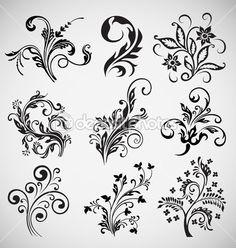 Ornament Vektor Blumenmuster, Vintage-Elemente — Stockilllustration #6958363