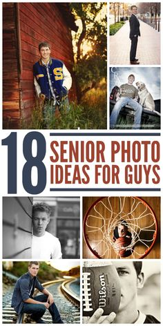 Winning Senior Picture Ideas for Guys Why should girls get all the fun when it comes to senior pictures? Check out these photo ideas that will show the man your little boy has become.Why should girls get all the fun when it comes to senior pictures?