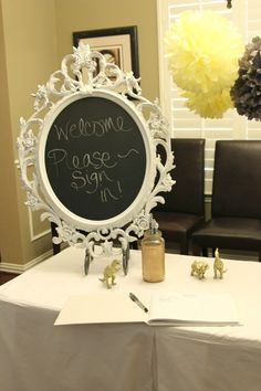dyi gold furniture for baby shower | Project For: Boy Baby Shower Location: Dallas, TX Description: