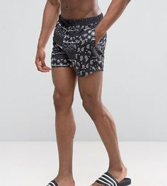 9e008ec2ec1b ASOS TALL Swim Shorts With Paisley Print In Short Length at asos.com