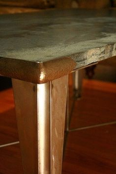 Soapstone Guilded Age Coffee Table by Primitive Precision Metalcraft LLC