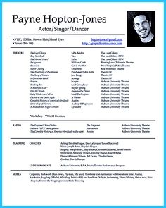 Actor resume template gives you more options on how to write your actor resume rightly and incredibly to ensure the employer to hire you and hand the ... child actor resume template