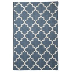 Maples Fretwork Area Rug - $130. Definitely recommend this rug - surprisingly good quality, great colors, awesome price.