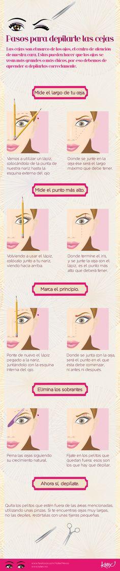 Depilación de cejas: pasos súper sencillos.  #belleza #cejas #cool #makeup #maquillaje #tutorial