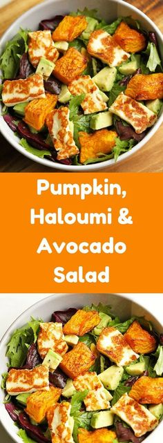 This pumpkin, haloumi & avocado salad is the perfect weekday dinner! Minimal E … – Informations About Dieser Kürbis, Haloumi & Avocado Salat ist das perfekte Abendessen unter der Wo… Pin You can easily use … Avocado Dessert, Avocado Salad Recipes, Salad Recipes For Dinner, Healthy Salads For Dinner, Vegetable Salad Recipes, Side Salad Recipes, Healthy Snacks, Healthy Eating, Healthy Recipes