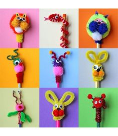 Pipe cleaner projects, pipe cleaner animals, crafts with pipe cleaners Diy Crafts How To Make, Quick Crafts, Diy Crafts For Kids, Fun Crafts, Arts And Crafts, Paper Crafts, Pipe Cleaner Projects, Pipe Cleaner Art, Pipe Cleaner Animals