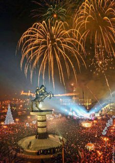 Macedonia Come tour the Balkans and witness a region reborn Places To Travel, Places To See, Republic Of Macedonia, Over The River, New Year Celebration, Bosnia, New Years Eve, Fireworks, Cool Pictures