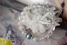 Kyanite, aquamarine & clear quartz