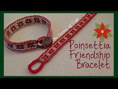 Christmas Poinsettia Flower Bracelet How To // Friendship Bracelet // ¦ The Corner of Craft - YouTube