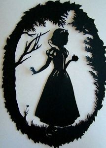 SNOW-WHITE-silhouette-cutout-Wall-Stickers-Decals-12cm