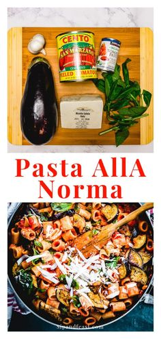 Pasta alla norma is one of the most comforting and delicious of all the southern Italian dishes.  The whole recipe comes together in about 40 minutes and is 100% worth the wait! #pastaallanorma #italianrecipe #eggplantrecipe
