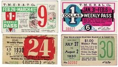 Vintage bus passes from the 1930′s & 1940′s