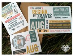 Going Retro? Have fun with your Wedding Invitations!!
