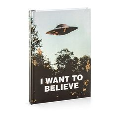 X-Files I Want to Believe Journal (£54) ❤ liked on Polyvore featuring home, home decor and stationery