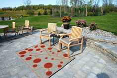 begonia Cotton Ball Reversible Indoor/Outdoor Area Rug, As Shown