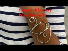 Create a wire bracelet #6 - YouTube Diy Jewelry Videos, Voss Bottle, Wire, Create, Bracelets, Youtube, Bracelet, Youtubers, Arm Bracelets