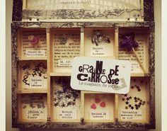 Graines de carrosse, poudre de perlimpinpin, graines de bêtises, véritables morceaux d'arc-en-ciel, graines de mots d'amour, extrait de nuit étoilée, graines de bonheur...